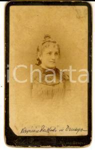 1890 ca MILANO Ritratto di Virginia RAFFAELLI ORNAGHI * Foto Giulio ROSSI
