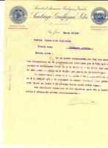 1923 SAN JUAN (RA) Santiago GRAFFIGNA a Luisa CIALLELLA su vendita proprietà