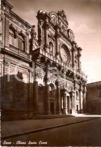 1950 LECCE Facciata della chiesa di SANTA CROCE *Cartolina FG VG