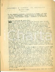 1940 Giovanni AUGUSTINELLI Appunti e spunti di cronache vaticane *Dattiloscritto