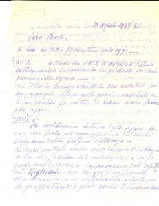 1937 CARAGLIO (CN) Ufficiale PAGLIANO su inaugurazione sezione militare *Lettera