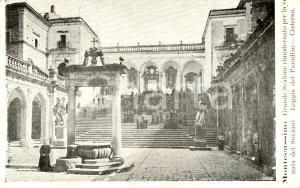 1900 ca ABBAZIA DI MONTECASSINO (FR) Scalone Loggia del PARADISO *ANIMATA FP NV