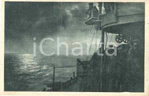 1925 ca REGIA MARINA MILITARE Cacciatorpediniere in crociera *Cartolina ANIMATA