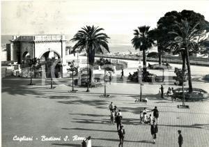 1961 CAGLIARI CASTELLO Bastione SAN REMY con passanti e bambini *ANIMATA FG VG