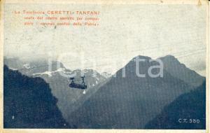 1918 WW1 Teleferica CERETTI-TANFANI del Regio Esercito per trasporto in quota FP