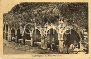 1930 ca SAN GIMIGNANO (SI) Lavandaie al lavoro alle fonti *Cartolina FP VG