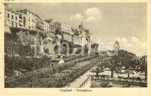 1930 ca CAGLIARI Veduta del terrapieno con cupola Cattedrale SANTA MARIA *FP VG
