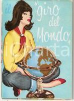 1965 PIN-UP Il giro del mondo *Calendario ILLUSTRATO