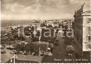 1955 ca PESCARA Panorama con giardini e Hotel PALACE *Cartolina ANIMATA FG NV