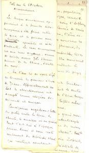 1920 ca ANONIMO Notes sur la littérature arménienne *Manoscritto 23 pp.