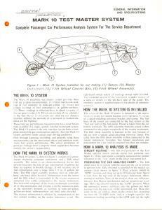 1955 ca COLUMBUS (USA) MARK 10 test master system for car performance analysis