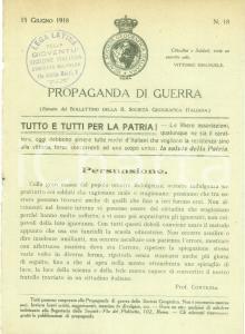 1918 MILANO PROPAGANDA WW1 Reale Società Geografica Italiana *Opuscolo