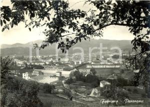 1961 FABRIANO (AN) Panorama del paese con le cartiere MILIANI *Cartolina FG VG