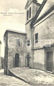 1930 ca PERUGIA La chiesa parrocchiale di SANTA CROCE *Cartolina FP NV