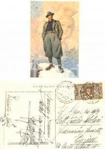 1932 PINEROLO Saluti fascisti Alessandro BERUTTI  a Emilio MOLARI *Autografo