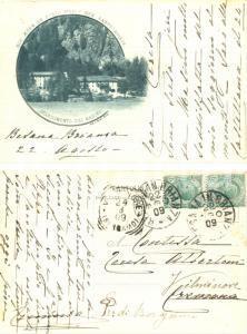 1909 BESANA IN BRIANZA Stabilimento del Masino *Cartolina a Teresa ALBERTONI
