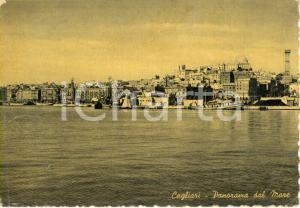 1954 CAGLIARI Veduta panoramica della città dal mare *Cartolina postale FG VG