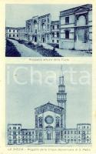 1930 ca LA SPEZIA Progetto chiesa domenicana SAN PIETRO e veduta cripta *FP NV