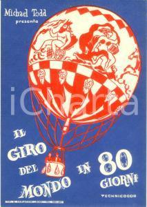 1958 CINEMA Michael TODD Il giro del mondo in 80 giorni *Etichetta ILLUSTRATA