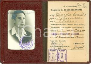 1944 VENEZIA R. Istituto Economia e Commercio *Tessera Corrado BISCEGLIO