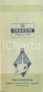 1950 ca BERGAMO Fabbrica carte da gioco MASENGHINI Libretto segnapunti CANASTA