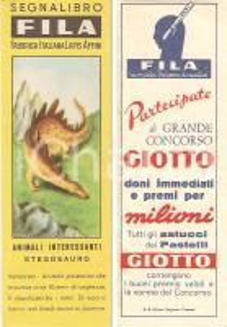 1955 ca FILA Animali interessanti Stegosauro Grande concorso GIOTTO *Segnalibro