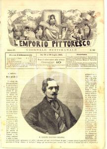 1865 L'EMPORIO PITTORESCO Il barone Bettino RICASOLI *Rivista anno II n° 47