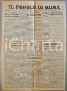 1943 WW2 IL POPOLO DI ROMA Tedeschi del CUBAN in Crimea *Giornale anno XX 282