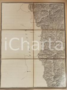 1870 ca BOBBIO e la Valle del TREBBIA *Mappa montata su tela 33x43 cm