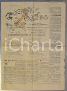 1910  GUERRINO MESCHINO Soccorsi per gli inondati *Rivista anno XIX n° 7