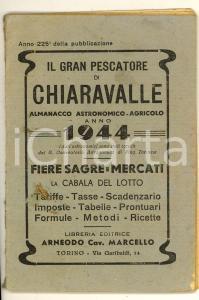 1944 GRAN PESCATORE DI CHIARAVALLE Almanacco Universale Cabala per giuoco lotto