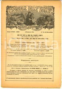 1926 MILANO Rivista GIORNALE DELLE DONNE Anno LVIII n°24 *Figli dell'altra mamma