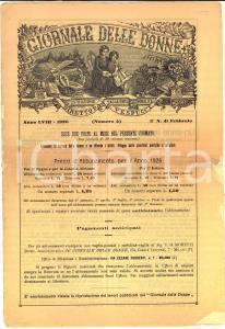 1926 GIORNALE DELLE DONNE Anno LVIII n°4 *In morte del cardinale MERCIER