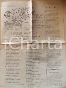 1895 GUERRINO MESCHINO Napoleone III a Vittorio Emanuele II *Anno XIV n°39