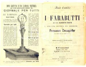 1891 MILANO Alberto COSTA I farabutti - Rettili umani *Opuscolo PUBBLICITARIO