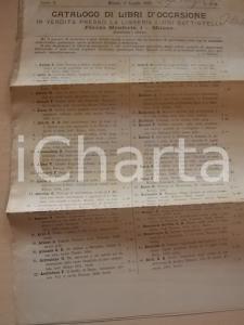 1899 MILANO Libreria Luigi BATTISTELLI Catalogo libri d'occasione n°17-18
