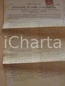 1899 MILANO Libreria Luigi BATTISTELLI Catalogo libri d'occasione n°13-14