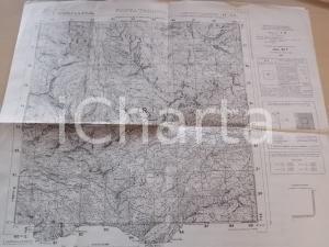 1935 ca Istituto Geografico Militare CARTA D'ITALIA - PUNTA TERSIVA (AO) *Mappa