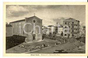 1943 CHIUSI SCALO (SI) Chiesa SANTA  MARIA DELLA PACE *Cartolina ANIMATA bambini