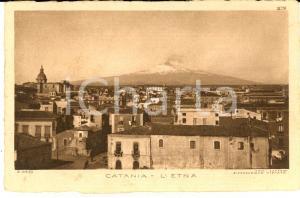 1930 ca CATANIA Veduta con l'ETNA in attività *Cartolina postale FP NV