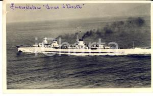 1935 REGIA MARINA Incrociatore DUCA D'AOSTA *Cartolina postale FP VG