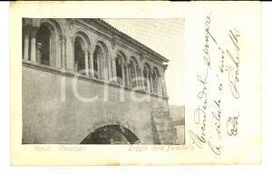 1905 VEROLI (FR) La loggia della foresteria nell'abbazia di CASAMARI *FP VG