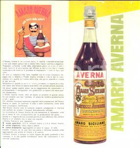 1970 ca AMARO AVERNA per i vostri cocktails *Opuscolo PUBBLICITARIO ILLUSTRATO