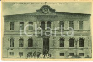 1915 ca FALCONARA MARITTIMA Piazza Mazzini e Palazzo delle Scuole *Cartolina