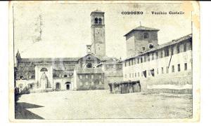 1918 CODOGNO (LO) Vecchio Castello *Cartolina FP VG DANNEGGIATA