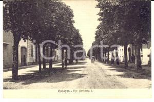 1931 CODOGNO (LO) Veduta di UMBERTO I *Cartolina ANIMATA FP VG