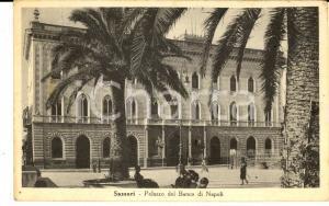 1946 SASSARI Palazzo del BANCO DI NAPOLI *Cartolina postale ANIMATA FP VG