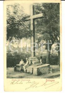 1901 BOLOGNA Strada dell'OSSERVANZA *Cartolina postale ANIMATA FP VG