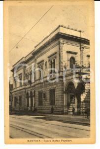 1934 MANTOVA Banca Mutua Popolare *Cartolina postale FP VG