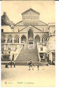 1906 AMALFI (SA) Veduta della cattedrale *Cartolina postale ANIMATA FP VG